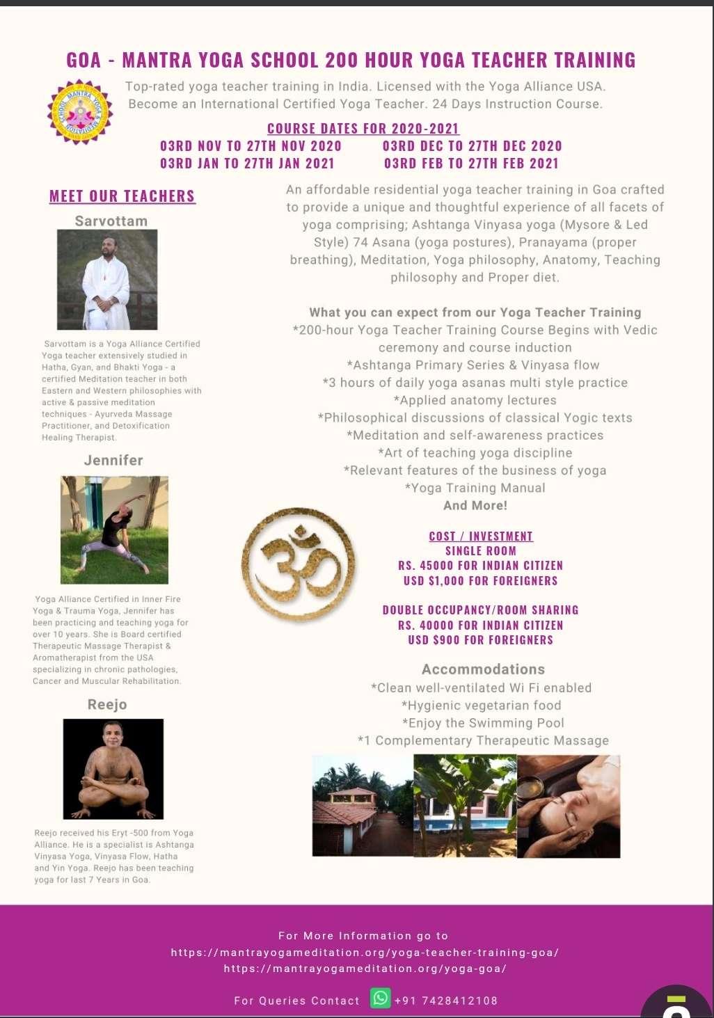 Ashtanga Yoga Teacher Training Goa